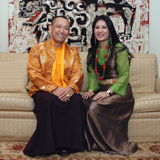 Sakyong Mipham With His Wife