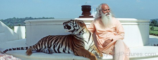 Satchidananda Saraswati Ji With Tiger