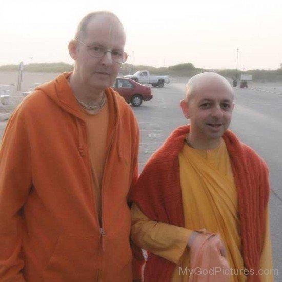 Satsvarupa dasa Goswami With Yadunandana Swami