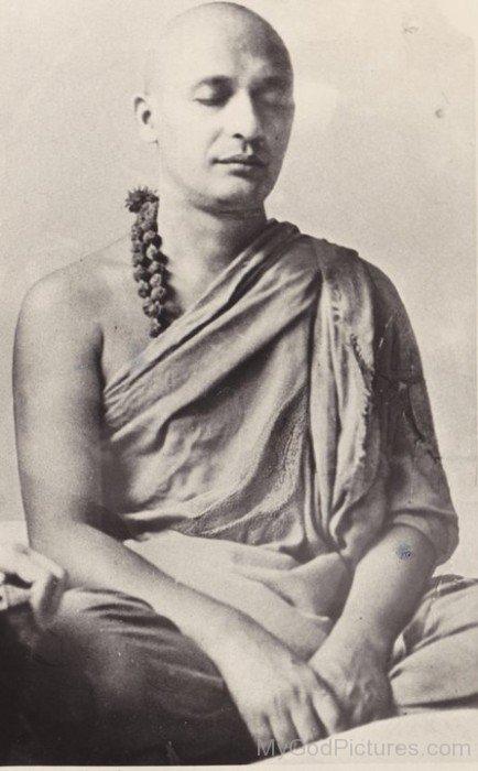 Satyananda Saraswati Doing Meditation