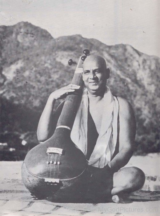 Sivananda Saraswati Playing Sitar