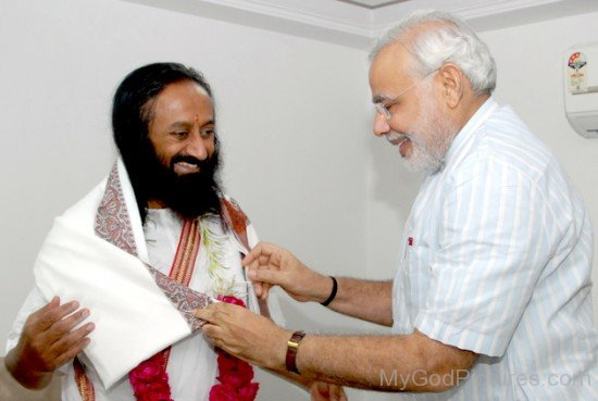 Sri Sri Ravi Shankar Honoured By Narender Modi