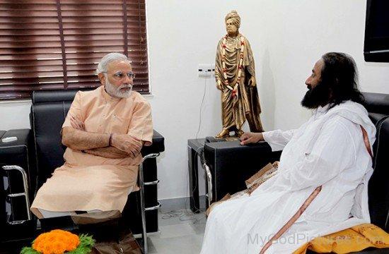 Sri Sri Ravi Shankar With Narender Modi