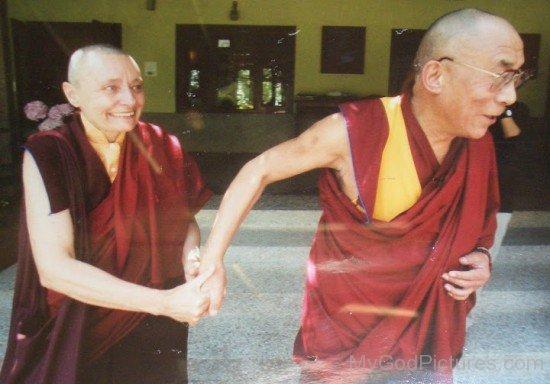 Tenzin Palmo With Dalai Lama