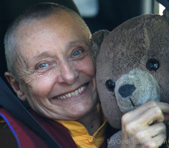 Tenzin Palmo With Teddy Bear