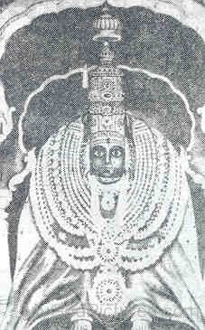 Black And White Image Of Goddess Bhavani