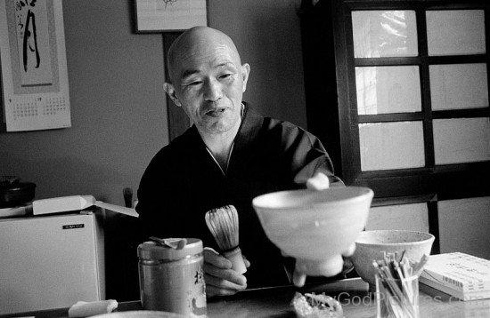 Black And White Image Of Shodo Harada