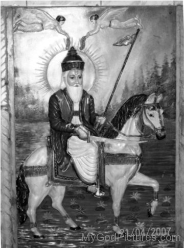 Black And White Picture Of Jhulelal