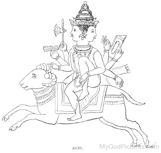 Black And White Picture Of Lord Agni