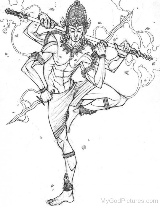 Drawing Of Lord Indra