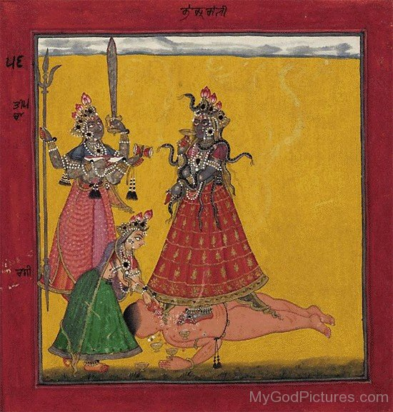 Goddess Bhadrakali And Bhairavi