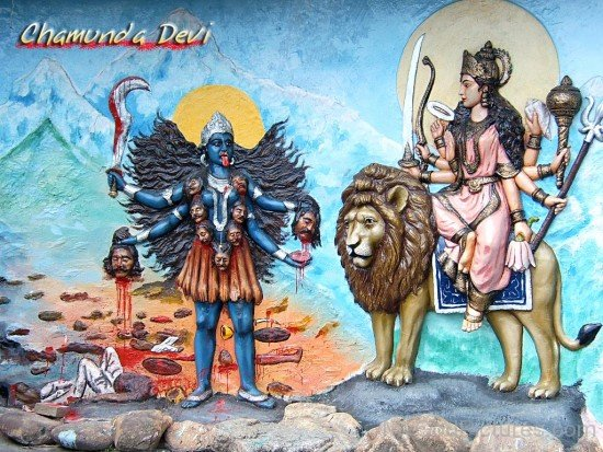 Goddess Chamunda And Goddess Durga