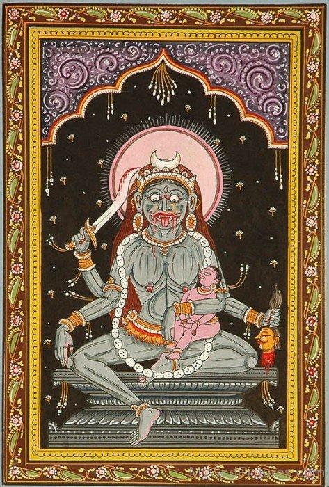 Goddess Chamunda Frame Picture