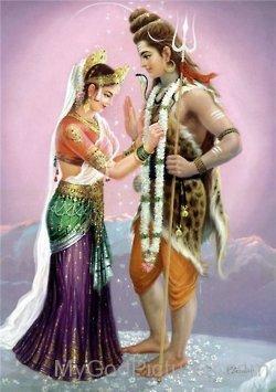 Goddess Gauri And Lord Shiva