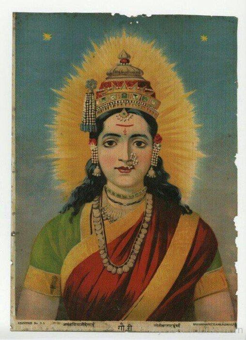 Goddess Gauri Frame Picture