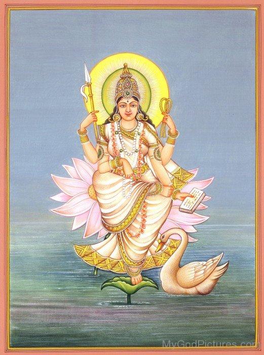 Goddess Gayatri Frame Picture