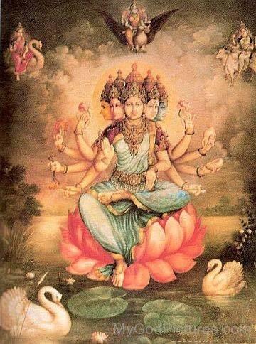 Goddess Gayatri Picture