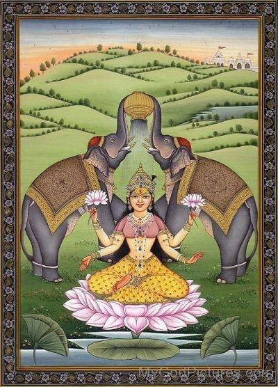 Goddess Kamalatmika Frame Picture