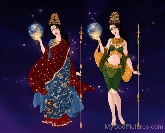 Goddess Mariamman And Goddess Angalamman