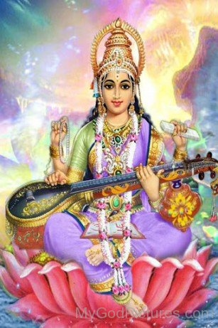 Goddess Of Knowledge Saraswati