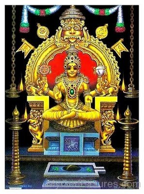 Golden Picture Of Goddess Mookambika