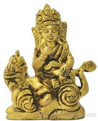 Golden Statue Of Lord Kubera