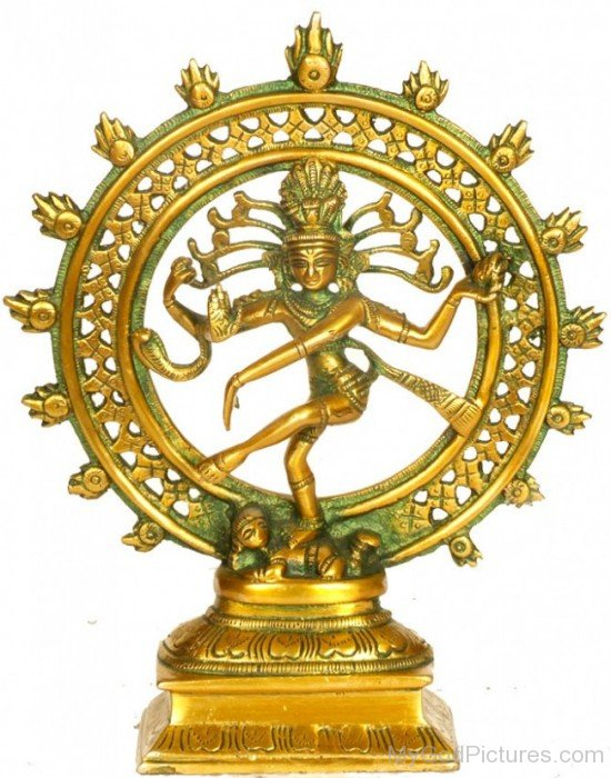 Golden Statue Of Lord Nataraja