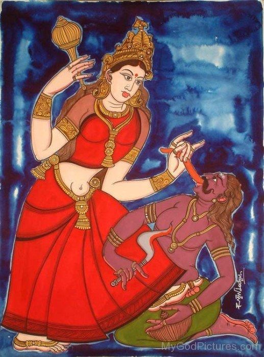 Image Of Goddess Bagalamukhi