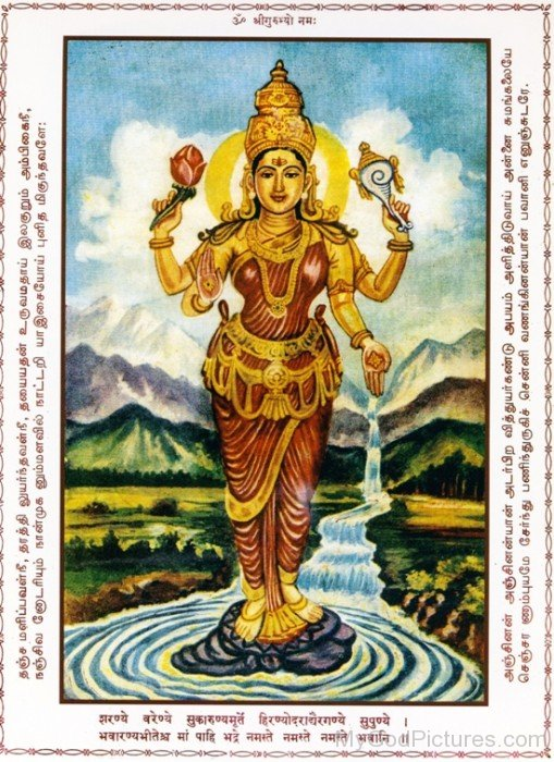 Image Of Goddess Bhavani