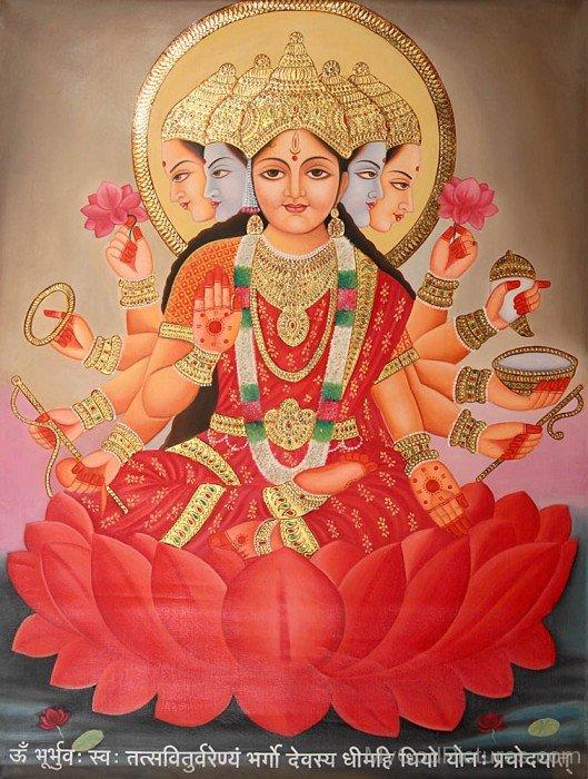 Image Of Goddess Gayatri