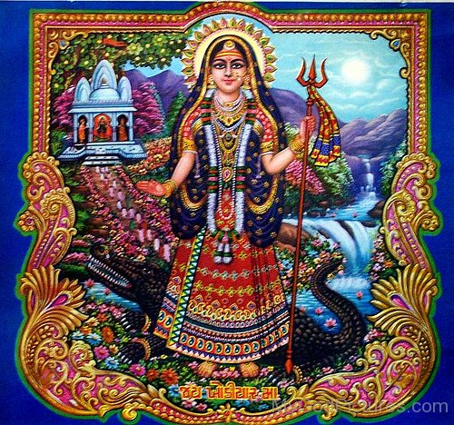 Image Of Goddess Khodiyar