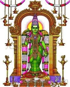 Image Of Goddess Meenakshi