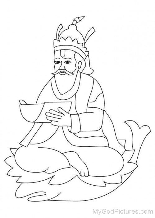 Jhulelal Sketch