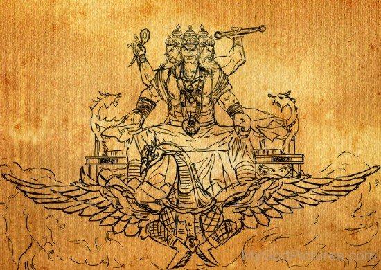 Lord Brahma Portrait