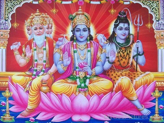 Lord Brahma,Lord Vishnu And Lord Shiva