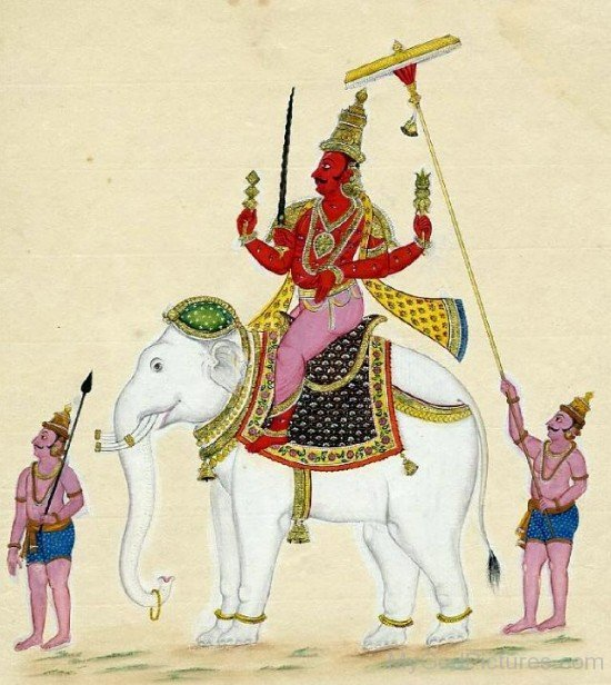 Lord Indra Mount On Airavata