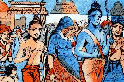 Lord Rama And Lord Lakshmana Painting