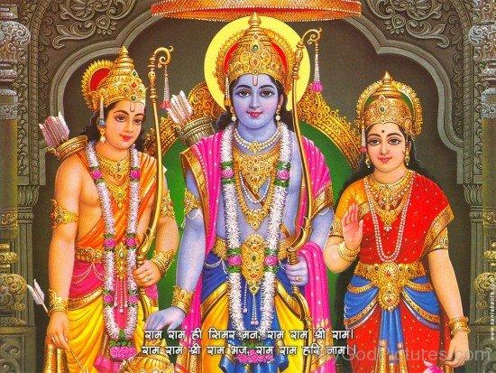 Lord Rama,Lord Lakshmana And Goddess Sita