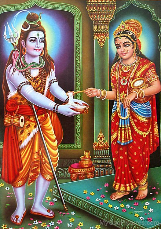 lord shiva and goddess parvati