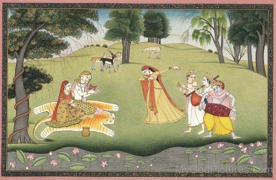 Lord Shiva And Goddess Parvati Portrait
