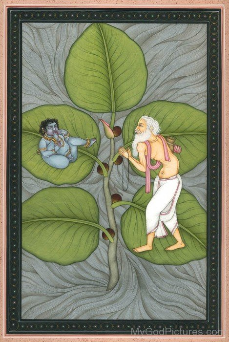 Markandeya And Baby Krishna