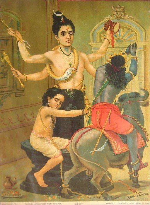 Markandeya Holding Shiva Linga