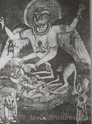 Old Picture Of Akash Bhairav