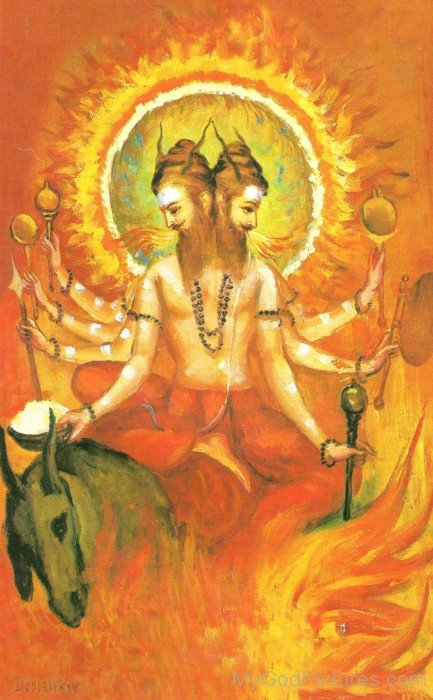 Painting Of Agni
