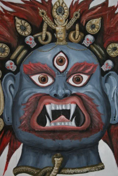 Painting Of Akash Bhairav