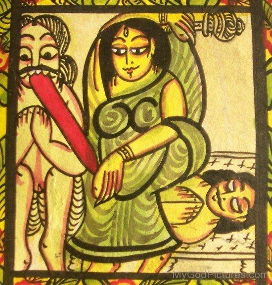 Painting Of Bagalamukhi