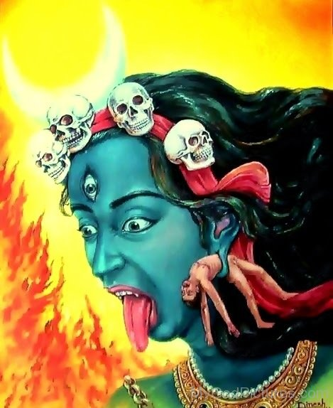 Painting Of Goddess Bhairavi