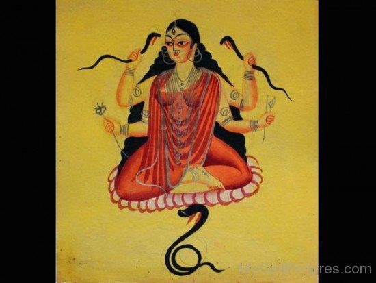 Painting Of Goddess Manasa