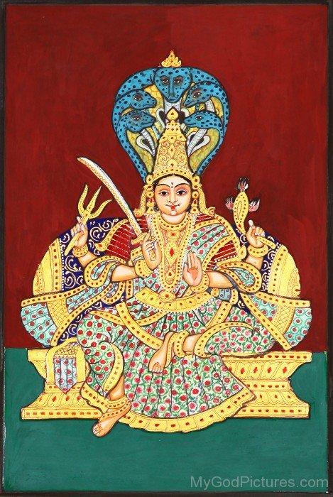 Painting Of Goddess Mariamman