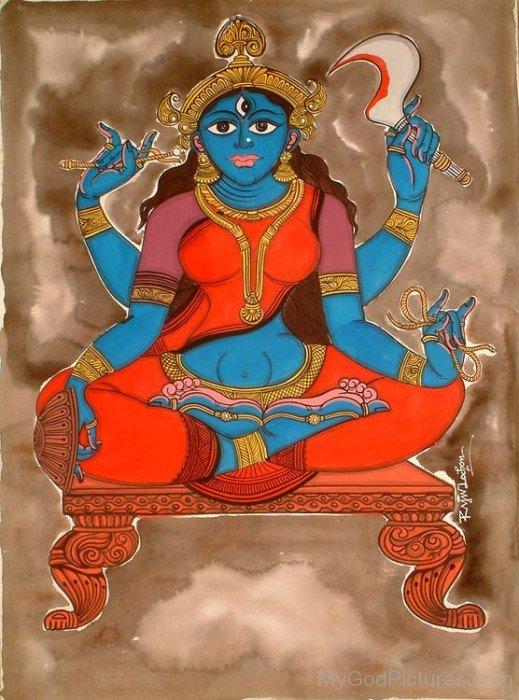 Painting Of Goddess Matangi